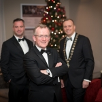No repro fee- limerick chamber president's dinner 2017 - 17-11-2017, From Left to Right: Dr James Ring - CEO Limerick Chamber, Niall Gibbons - Tourism Ireland, Ken Johnson - President Limerick Chamber. Photo credit Shauna Kennedy