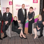No repro fee- limerick chamber president's dinner 2017 - 17-11-2017, From Left to Right: President Dinner Sponsor AIB, #BackedByAIB, Sponsor of the Best Family Business Award.: Conor O'Sullivan - AIB, Dr James Ring - CEO Limerick Chamber, Mary Shanahan - AIB , Ken Johnson - President Limerick Chamber, Joan O'Dell - AIB, Judy Tighe- AIB, Dermot Graham - AIB. Photo credit Shauna Kennedy