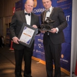No repro fee- limerick chamber president's dinner 2017 - 17-11-2017, From Left to Right: Presidents Award- Michael Noonan, Ken Johnson - President Limerick Chamber. Photo credit Shauna Kennedy