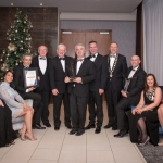 No repro fee- limerick chamber president's dinner 2017 - 17-11-2017, From Left to Right: Best Overall Company of the year Award: Jennifer McNamara, Yvonne Maginer, Janine Byrne, Colin McNamara, Tom Caulfield, Professor Vincent Cunnane - President LIT / Main Award Sponsor, Conor Gilligan , Dr James Ring - CEO Limerick Chamber, Ken Johnson - President Limerick Chamber, Peter Bryne, Emer Gilligan, Rhona Byrne, Trevor Byrne all from Roadbridge / Winner. Photo credit Shauna Kennedy