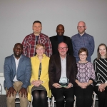 Pictured at the Limerick City Tidy Towns Awards are volunteers from The Life Centre on Henry Street - Kevin fitzgibbon, Pawel Garbowski, Patrycja Garowska, Breda Fitzgibbon, Themba Lunga, Sahar Legge, John O'Brien and Emeka Nelson. Picture: Orla McLaughlin/ilovelimerick.