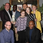 The Limerick City Tidy Towns Award was presented to The Life Centre on Henry Street. Pictured are representatives from the centre Kevin Fitzgibbon, Pawel Garbowski, Patrycia Garbowska, Breda Fitzgibbon, Themba Lunga,  Sarah Legge, John O'Brien and Emeka Nelson. Picture: Orla McLaughlin/ilovelimerick.