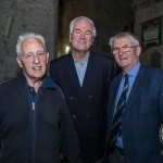 Pictured at the Limerick Civic Trust Autumn Lecture Series with Jodie Ginsberg were Hiran Wood, Clare, Brian McLoghlin, Limerick Civic Trust and David Deighan, Clare. Picture: Cian Reinhardt/ilovelimerick