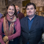 Pictured at the Limerick Civic Trust Autumn Lecture Series with Jodie Ginsberg were Alison McNamara, Limerick Civic Trust and Darragh Roche, Limerick Life. Picture: Cian Reinhardt/ilovelimerick
