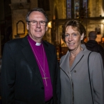 Pictured at the Limerick Civic Trust Autumn Lecture with Stephen Green at St Mary's Cathedral were  Mrs Jennifer Kearon and Bishop of Limerick Church of Ireland Kenneth Kearon. Picture: Cian Reinhardt/ilovelimerick