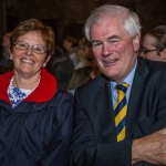 Pictured at the Limerick Civic Trust Autumn Lecture with Stephen Green at St Mary's Cathedral were Margaret Jackson and Brian McLoghlin, Limerick Civic Trust. Picture: Cian Reinhardt/ilovelimerick