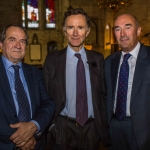 Pictured at the Limerick Civic Trust Autumn Lecture with Stephen Green at St Mary's Cathedral were Quintin Peel, Stephen Peel, guest lecturer and David O'Brien, Limerick Civic Trust. Picture: Cian Reinhardt/ilovelimerick