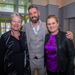 Pictured at the Limerick Civic Trust Ladies Lunch were Trish Taylor-Thompson, RTE Lyric Fm, and Emily Ross' husband, John Dillon with Catherine Dundon, Dundon-Callanan Solicitors Picture: Cian Reinhardt/ilovelimerick