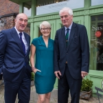 Pictured at the Limerick Civic Trust Ladies Lunch were David O'Brien, Limerick Civic Trust, Emily Ross, SportsTech Ireland and Brian McLoghlin, Limerick Civic Trust. Picture: Cian Reinhardt/ilovelimerick