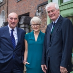 Pictured at the Limerick Civic Trust Ladies Lunch were David O'Brien, Limerick Civic Trust, Emily Ross, SportsTech Ireland and Brian McLoghlin, Limerick Civic Trust. Picture: Cian Reinhardt/ilovelimerick.