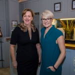 Pictured at the Limerick Civic Trust Ladies Lunch were Maria O'Gorman Skelly, Strand Hotel Limerick and Emily Ross, SportsTech Ireland. Picture: Cian Reinhardt/ilovelimerick