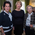Pictured at the Limerick Civic Trust Ladies Lunch were Jennifer Gabbett, Limerick Civic Trust with Margaret Dillon and Evelyn Fennelly of South Circular Road. Picture: Cian Reinhardt/ilovelimerick