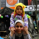Nora Khald and daughter Dimah Abuabah at the Festival of Kindness fun day on Bedford Row, Limerick. March 10, 2018. Picture: Sophie Goodwin/ilovelimerick