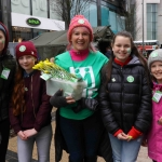 Eimear Greaney, Emma Nagle, Siobhan Everard, educational leader on the board of Pay it Forward, Emma O'Rourke and Isobella Daltan at the Festival of Kindness fun day on Bedford Row, Limerick. March 10, 2018. Picture: Sophie Goodwin/ilovelimerick
