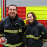 Anthony Kirby and Rachael Freyne from Limerick Fire and Rescue at the Festival of Kindness fun day on Bedford Row, Limerick. March 10, 2018. Picture: Sophie Goodwin/ilovelimerick
