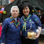 Nolin Guinane, Angela O'Sullivan from St Paul's Scouts at the Festival of Kindness fun day on Bedford Row, Limerick. Picture: Sophie Goodwin/ilovelimerick