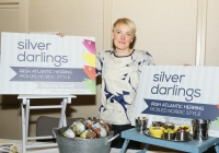 """8/2/2016 With Compliments. A newly launched blueprint seeking to strengthen Limerick's efforts to achieve Food Destination Status over the next three years was launched this Monday by Jan O'Sullivan T.D., Minister for Education and Skills. Photographed at the event was Kirsti O""""Kelly of Silver Darlings, Corbally who supplies Pickled Herring Products. Photograph Liam Burke/Press 22"""