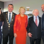 """Belonging to Limerick"" launch Integration Plan for 2018 to 2022 takes place on September 28 at Thomond Park. Cllr James Collins, Mayor of the City and County of Limerick, and Michael.D.Higgins, President of Ireland attended the launch. Picutre: Baoyan Zhang/ilovelimerick"