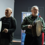 10/04/2019 St Mary's Men's Shed bodhran group.  Limerick Learning Neighbourhoods event at The Life Centre, Henry Street, Limerick Picture by Diarmuid Greene