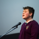 10/04/2019 Thomas Moloney, aged 14, from the Living Out Loud youth club, Moyross, performs during the Limerick Learning Neighbourhoods event at The Life Centre, Henry Street, Limerick. Picture by Diarmuid Greene