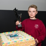 10/04/2019 Prizewinner Leon Daly, aged 12, from Corpus Christi National School during the Limerick Learning Neighbourhoods event at The Life Centre, Henry Street, Limerick Picture by Diarmuid Greene