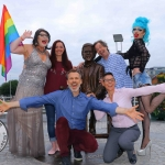 Pictured at the Limerick Pride 2018 press launch - Elsie Cox, Lisa Daly, Chairperson Limerick Pride 2018, Myles Breen and Karma Monet (back) with Richard Lynch, Grand Marshall Limerick Pride 2018 and  Carrie Dryburgh, Dell Limerick (front). The Limerick LGBTQ Pride Festival 2018 runs from Monday, July 2 until Saturday, July 7 with the Parade on Saturday, July 7. Picture: Sophie Goodwin/ilovelimerick.