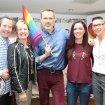 Pictured at the Limerick Pride 2018 press launch at the George Hotel were Myles Breen, Deputy Mayor Marian Hurley, Richard Lynch, Grand Marshall, Limerick Pride 2018, Lisa Daly, Chairperson Limerick Pride 2018 and Carrie Dryburgh, Dell Limerick. Picture: Zoe Conway/ilovelimerick.