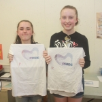 Emma Graham (15) and Emma Carey (15) at Print with Pride at Limerick Print Makers. Picture: Sophie Goodwin