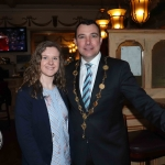 Emma Moore, Chairperson of the society, and Cllr James Collins, Mayor of Limerick City and Council at the launch of the Limerick Musical Society's new play 'Sister Act' at South's Pub in Limerick. Picture: Conor Owens/ilovelimerick.
