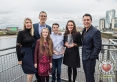 Pictured at the Limerick Person of the Year Award 2016 were Claire Culhane, Richard Lynch, Grace Culhane, Luke Culhane, winner of the Limerick Person of the year Award 2016, Olive Foley and Dermot Culhane. Picture: Cian Reinhardt/ilovelimerick