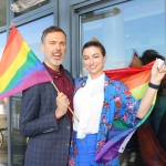 Pictured at the Limerick Pride 2019 Press Launch at the Clayton Hotel are Richard Lynch, I Love Limerick and Meghann Scully, Riverpoint. Picture: Orla McLaughlin/ilovelimerick.