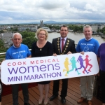 Leanne Quinn, Westmeath Rose, Johnny Togher, Pieta House, Angela Moloney, Cook Medical Finance Director, Mayor James Collins, Kieran O'Brien, Pieta House and Phil Deegan, Cliona's Foundation at the launch of the Cook Medical Limerick Women's Mini-Marathon at the Strand Hotel, Monday, July 16, 2018. Picture: Zoe Conway/ilovelimerick.