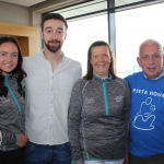 Rachel Cleary, Steven and Suzy Kennedy, Limerick Women's Mini-Marathon representatives, and Johnny Togher, Pieta House at the launch of the Cook Medical Limerick Women's Mini-Marathon at the Strand Hotel, Monday, July 16, 2018. Picture: Zoe Conway/ilovelimerick.
