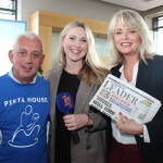Johnny Togher, Pieta House, Aedin O'Tiarnaigh, Live 95fm, and Lorna Clancy, Limerick Leader at the launch of the Cook Medical Limerick Women's Mini-Marathon at the Strand Hotel, Monday, July 16, 2018. Picture: Zoe Conway/ilovelimerick.