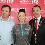 John Cleary, Event Director, Leanne Quinn, Westmeath Rose and Mayor James Collins at the launch of the Cook Medical Limerick Women's Mini-Marathon at the Strand Hotel, Monday, July 16, 2018. Picture: Zoe Conway/ilovelimerick.