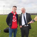 Pictured at the GAA grounds of Limerick Institute of Technology for the World Record for Most Nationalities to Take Part in a Hurling Match are Aaron Tier, Irish soccer player, and Sean Malone, LIT. Picture: Conor Owens/ilovelimerick.