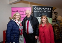 Author Mary Coll, Hugh Maguire, Director of the Hunt Museum and Vivienne McKechnie, Limerick Literary Festival at the launch of the festival at O'Mahonys Bookstore.A star-studded line up of participants has been confirmed for the 2015 Limerick Literary Festival, held annually in honour of Limerick-born novelist and playwright Kate O'Brien. Taking place from February 20th to February 22nd, this year's festival features author visits, readings, lectures and panel discussions at 69 O'Connell St (formerly The Belltable) and The Lime Tree Theatre at Mary Immaculate College in Limerick City. Festival organisers today unveiled a programme that features Edna O'Brien, novelist, memoirist, playwright, poet, short story writer and author of 'The Country Girls', as well as Man Booker Prize nominee Niall Williams, Poet, novelist, short-story writer and essayist Mary O'Donnell, poet John Montague, novelist Audrey Magee, and UL Frank McCourt Chair in Creative Writing Joseph O'Connor. Images by Sean Curtin Photo.
