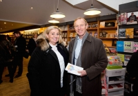 Ann Marie Gill, The Burren and John Mc Kechnie, Crecora at the launch of the festival at O'Mahonys Bookstore.  A star-studded line up of participants has been confirmed for the 2015 Limerick Literary Festival, held annually in honour of Limerick-born novelist and playwright Kate O'Brien.   Taking place from February 20th to February 22nd, this year's festival features author visits, readings, lectures and panel discussions at 69 O'Connell St (formerly The Belltable) and The Lime Tree Theatre at Mary Immaculate College in Limerick City.   Festival organisers today unveiled a programme that features Edna O'Brien, novelist, memoirist, playwright, poet, short story writer and author of 'The Country Girls', as well as Man Booker Prize nominee Niall Williams, Poet, novelist, short-story writer and essayist Mary O'Donnell, poet John Montague, novelist Audrey Magee, and UL Frank McCourt Chair in Creative Writing Joseph O'Connor.   Images by Sean Curtin Photo.