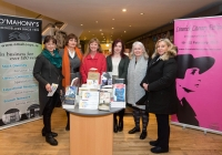 Eileen O'Connor, Marie Hackett, Vivien McKechnie, Deirdre FLynn, Sheila Deegan and Ann Marie Gill, Limerick Literary Festival committee.  Mary Coll and Sheila Deegan at the launch of the festival at O'Mahonys Bookstore.  A star-studded line up of participants has been confirmed for the 2015 Limerick Literary Festival, held annually in honour of Limerick-born novelist and playwright Kate O'Brien.   Taking place from February 20th to February 22nd, this year's festival features author visits, readings, lectures and panel discussions at 69 O'Connell St (formerly The Belltable) and The Lime Tree Theatre at Mary Immaculate College in Limerick City.   Festival organisers today unveiled a programme that features Edna O'Brien, novelist, memoirist, playwright, poet, short story writer and author of 'The Country Girls', as well as Man Booker Prize nominee Niall Williams, Poet, novelist, short-story writer and essayist Mary O'Donnell, poet John Montague, novelist Audrey Magee, and UL Frank McCourt Chair in Creative Writing Joseph O'Connor.   Images by Sean Curtin Photo.