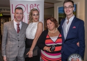 Pictured at Lola's Ball at the Greenhills Hotel in aid of ACT for Meningitis were Richard Keane, Rosie Pratt, Niamh Gorey and Brian Gabbett. Picture: Cian Reinhardt/ilovelimerick