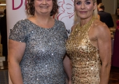 Pictured at Lola's Ball at the Greenhills Hotel in aid of ACT for Meningitis were Fionna Lyons and Dawn Bourke. Picture: Cian Reinhardt/ilovelimerick