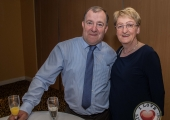 Pictured at Lola's Ball at the Greenhills Hotel in aid of ACT for Meningitis were Sean and Brid Hogan. Picture: Cian Reinhardt/ilovelimerick
