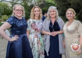 Pictured at Lola's Ball at the Greenhills Hotel in aid of ACT for Meningitis were Mandy Skelton, Gillian Kehoe, Bridget Kinsella and Alice Mulcahy. Picture: Cian Reinhardt/ilovelimerick