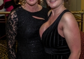Pictured at Lola's Ball at the Greenhills Hotel in aid of ACT for Meningitis were Kearsley Joyce and Ann Clancy. Picture: Cian Reinhardt/ilovelimerick