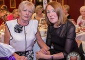 Pictured at Lola's Ball at the Greenhills Hotel in aid of ACT for Meningitis were Breda Bourke and Rena O'Loughlan. Picture: Cian Reinhardt/ilovelimerick