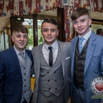 Pictured at Lola's Ball at the Greenhills Hotel in aid of ACT for Meningitis were Jim Moloney, Shea Farrell and Kallum O'Donoghue. Picture: Cian Reinhardt/ilovelimerick
