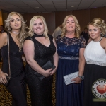 Pictured at Lola's Ball at the Greenhills Hotel in aid of ACT for Meningitis were Hazel McNamara, Rose O'Donnelly, Trisha Hogan and Stace O'Donnell. Picture: Cian Reinhardt/ilovelimerick
