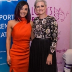 Pictured at Lola's Ball at the Greenhills Hotel in aid of ACT for Meningitis was Ruth Melling, Lola's Ball with host for the evening, Sinead Kennedy, RTE. Picture: Cian Reinhardt/ilovelimerick
