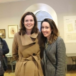 Angela Heeley and Finula Quigley at the launch of Limerick Printmakers' new exhibition at the Hunt Museum on their 20th Anniversary. Picture: Conor Owens/ilovelimerick.