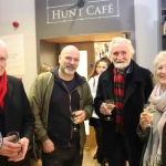John Leonards, Desmond McMann, Dietrich Blodau and Kail Blodau at the launch of Limerick Printmakers' new exhibition at the Hunt Museum on their 20th Anniversary. Picture: Conor Owens/ilovelimerick.